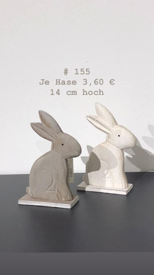 Hase je 3,60, hier Hase weiß, 3,60 Euro  #155